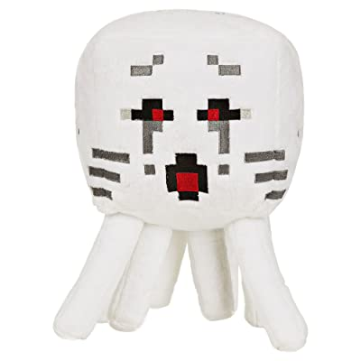 """JINX Minecraft Ghast Plush Stuffed Toy, White, 13"""" Tall, with Display Box: Toys & Games"""