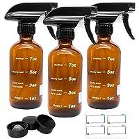 Glass Spray Bottles, Flutain 8oz Empty Amber Glass Spray Bottles with Measurements...