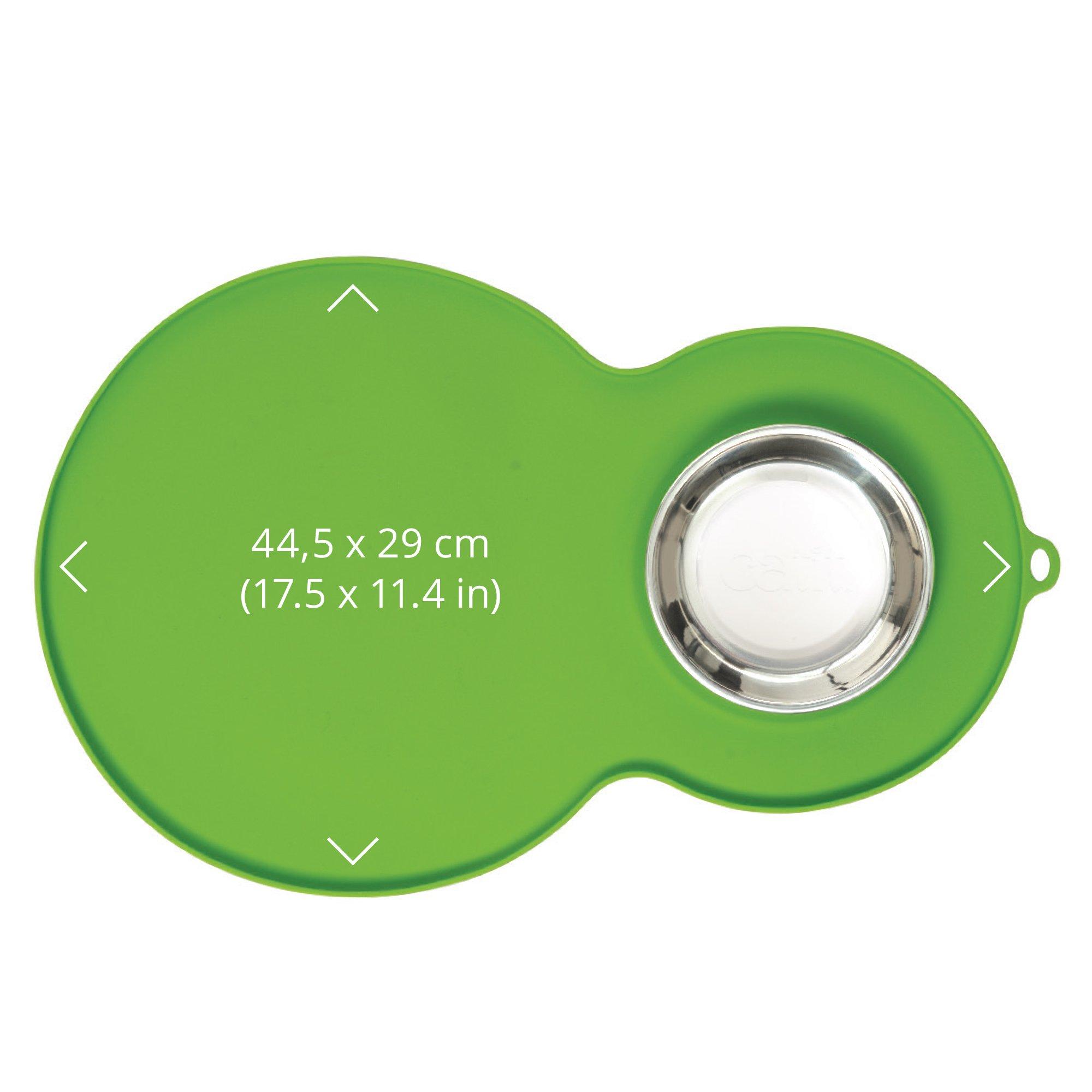 Catit 44012 Peanut Shape Placemat, Green, Medium