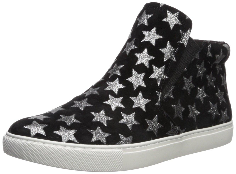 Kenneth Cole New York Women's Kalvin Mid-Top Pull Techni-Cole 37.5 Lining Sneaker B075KW4BZ3 9 B(M) US Black/Silver