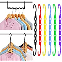 Magic Hangers Space Saving Clothes Hangers Organizer Smart Closet Space Saver Pack of 12 with Sturdy Plastic for Heavy…
