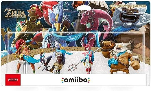 MMZ Leyenda de Zelda Amiibo: Urbosa/Revali/Mipha/Daruk Figurita!Leyenda de Zelda Figura de acción del Juego Obra Maestra Figura Coleccionable de la respiración del Salvaje Japón Importar / 3DS /: Amazon.es: Hogar
