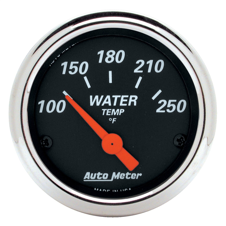 Auto Meter 1436 Designer Black 2-1/16' 100-250° Water Temperature Gauge