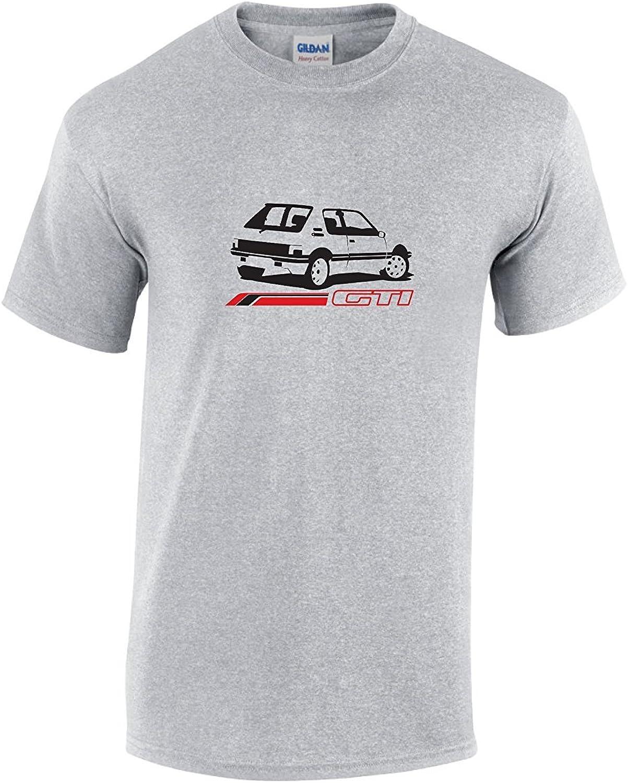 Small T-shirt r/étro Peugeot 205/GTI Gris