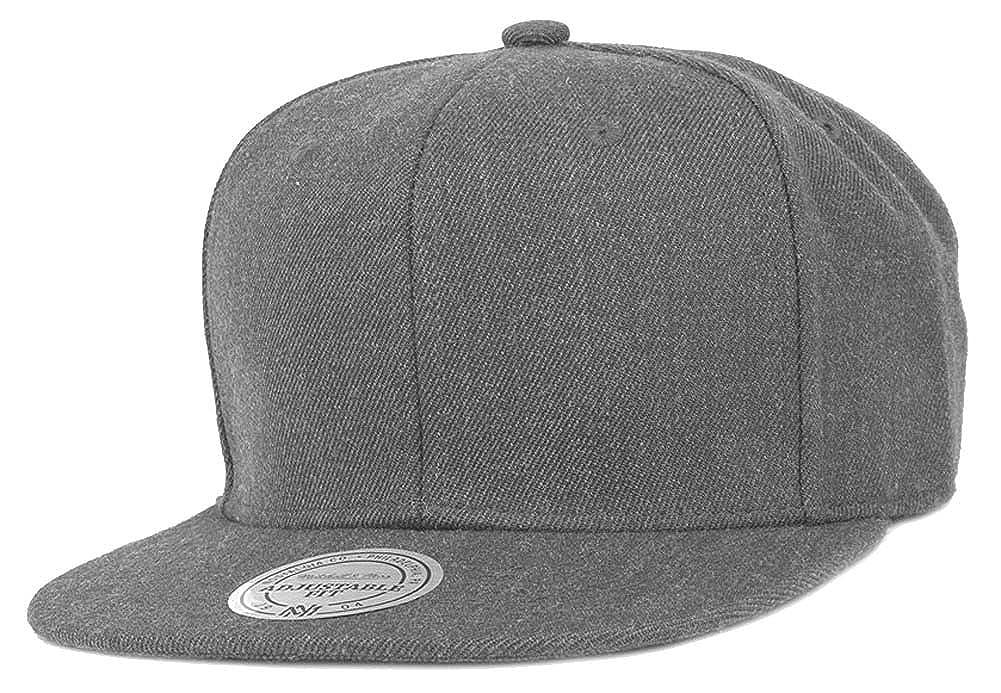 Mitchell   Ness Charcoal Grey Blank Snapback Cap EU930 Dunkelgrau Meliert  Kappe Basecap at Amazon Men s Clothing store  a2753b56604