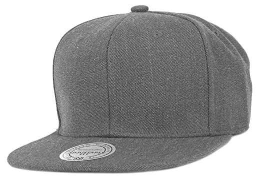 3727fcfbbcf8b Image Unavailable. Image not available for. Color  Mitchell   Ness Charcoal  Grey Blank Snapback ...