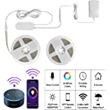 Smart Strip Lights,BRTLX 6M WiFi Wireless Smart Phone Controlled LED Light Strip,RGBW Dimmable Waterproof IP65,Working with Android,iOS,Alexa and Google Home,19.7ft (2 x 9.85ft)