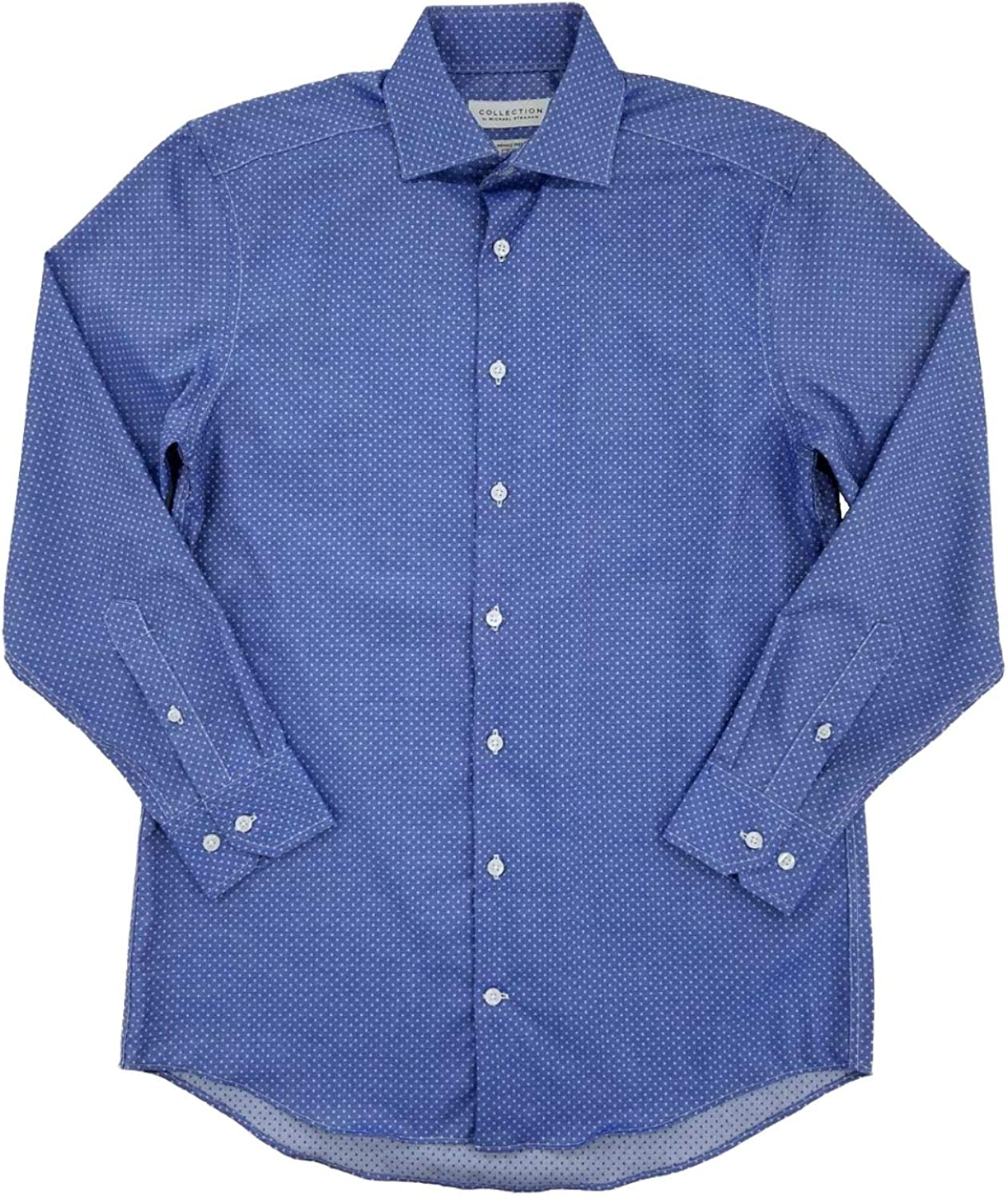 Details about  /NWT COLLECTION by MICHAEL STRAHAN LONG SLEEVE DRESS SHIRT Blue Check Reg