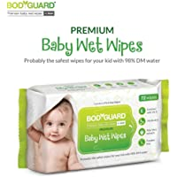 BodyGuard Premium Paraben Free Baby Wet Wipes with Aloe Vera - 72 Wipes