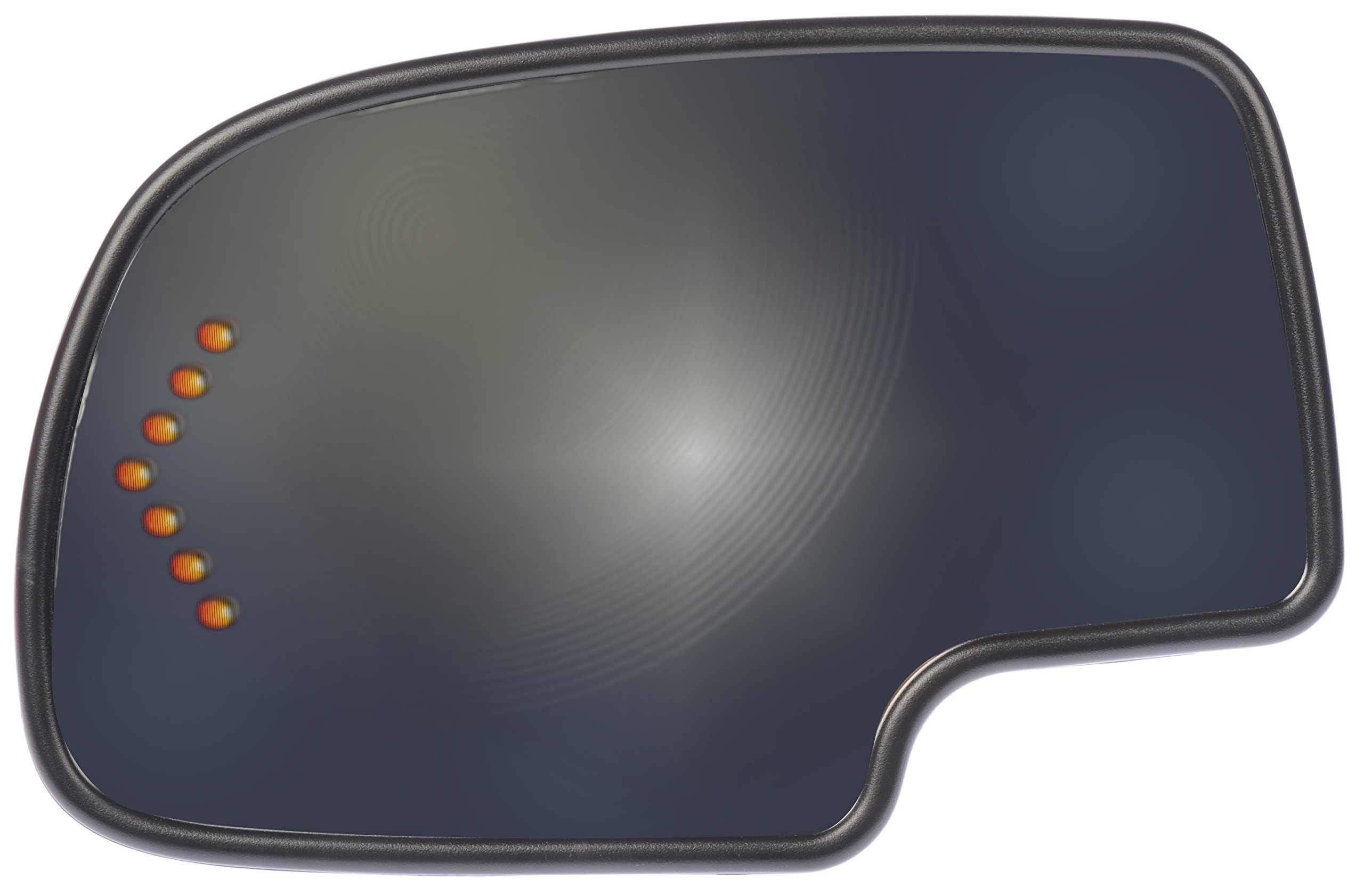 Dorman 56318 Chevrolet/GMC Driver Side Heated Power with Turn Signal Snap-In Plastick Backed Mirror Glass