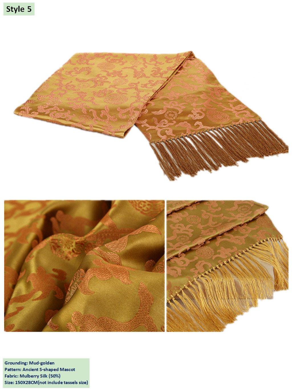 50% Mulberry Silk Brocade Scarf Business Gifts Handicrafts Shawl