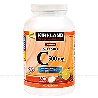 Kirkland Vitamin C (500 mg), Tangy Orange, Chewable Tablets, 1000 Count