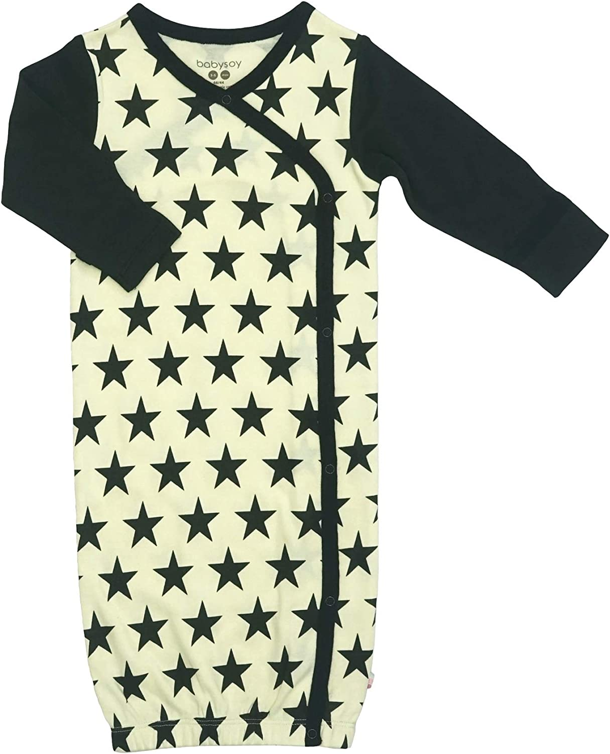 Babysoy Kimono Gown Long Sleeve Newborn Sleep Sack//Bundler with Mittens
