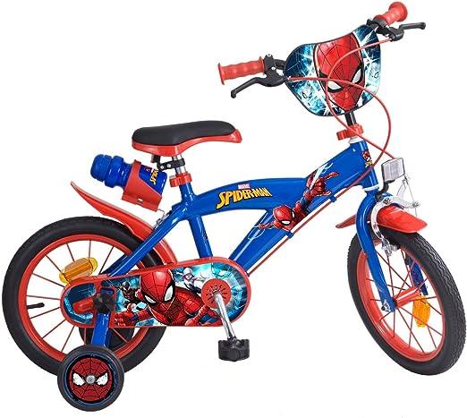 TOIMS Bicicleta para niños, diseño de Spiderman: Amazon.es: Deportes y aire libre