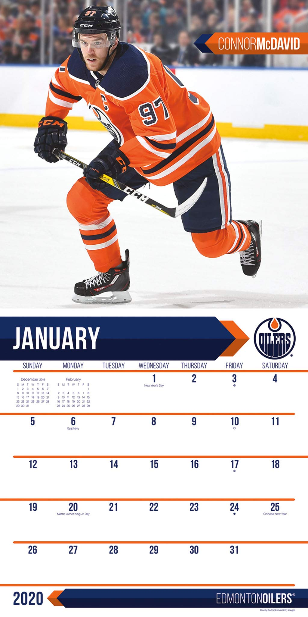 Edmonton Oilers 2020 Wall Calendar Trends International 9781438870083 Amazon Com Books