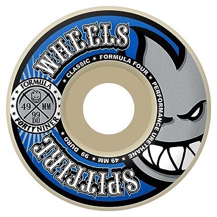 Spitfire Wheels Fórmula cuatro Forty Niners ruedas de skateboard (99du Blanco 49 mm