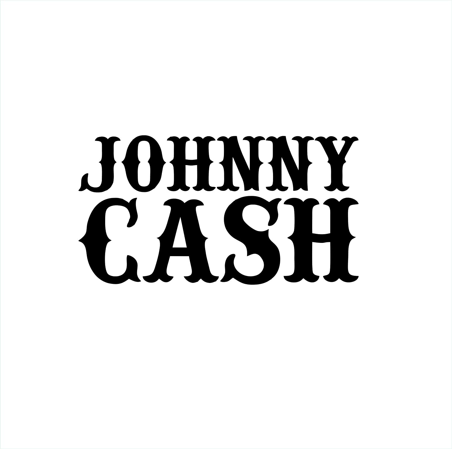 Johnny Cash Music Band Vinyl Die Cut Car Decal Sticker