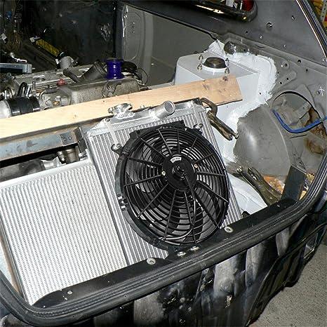 14 Ventiladores de Enfriamiento Radiador Eléctrico DC12V 90W para Coche Remolque Camión