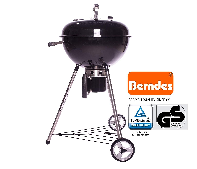 Barbacoa de carbón redonda de Berndes (501960), en negro ...