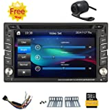 Free HD rear camera+ NEW win 8 UI car stereo radio 6.2-inch universal Car GPS cd dvd player TFT touch screen HD screen 800*480 Support Bluetooth USB/TF card User-Friendly Interface 2din Headunit 8GB Card