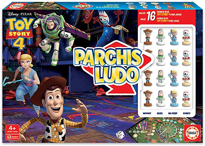 Educa-Parchís Ludo Toy Story con Figuras 3D de los Personajes, a ...