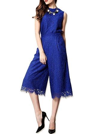 13a0769e68123 パンツドレス オールインワン レース ガウチョパンツ 結婚式 二次会 お呼ばれ ワンピース ドレス 大きいサイズ パーティードレス