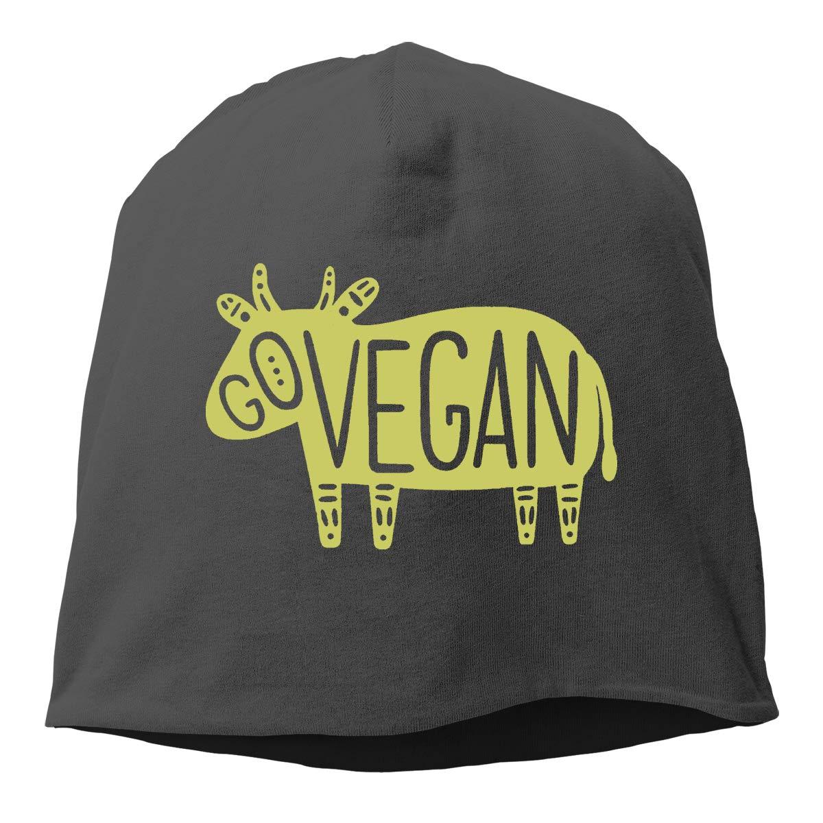 Go Vegan Unisex Knitted Hat Beanie Hat Warm Hats Skull Cap Beanie Hat