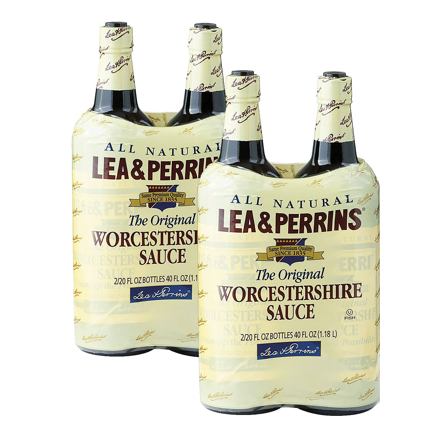 Lea & Perrins Worcestershire Sauce (20 oz. bottle, 2 ct.) (pack of 2)