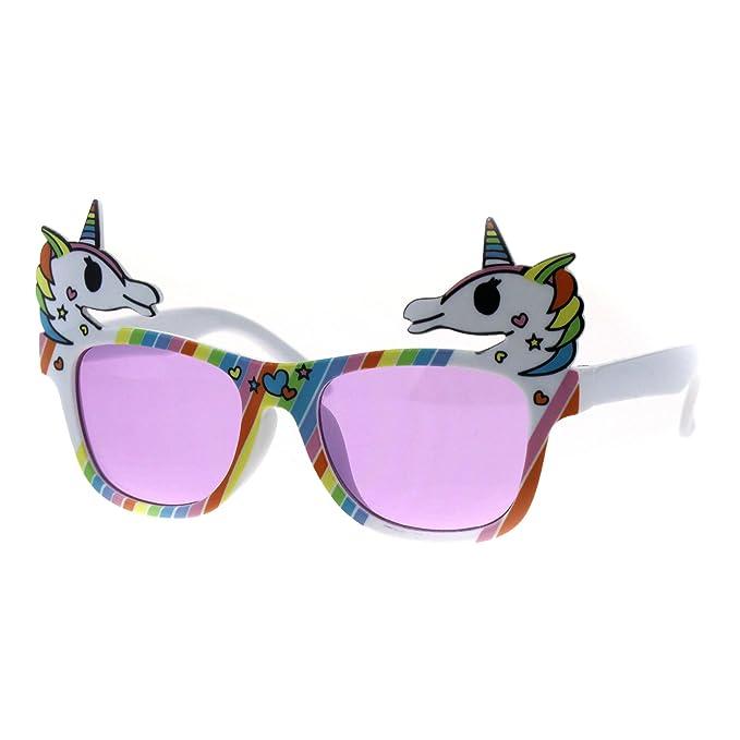 da2e6adee7 anteojos de sol divertidas para fiesta de unicornio para niñas, Púrpura, 4  15/