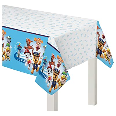 """PAW Patrol Adventures"" Blue and White Plastic Party Table Cover, 54"" x 96"": Toys & Games"