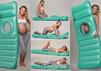 Amazon.com : Holo - The Inflatable Maternity Pillow Raft with a Hole to Lie on Your Stomach During Pregnancy - Mint : Baby