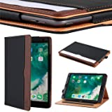 Apple iPad 10.2 Inch 2019 (7th Generation) Case by I4UCase - Soft Leather Stand Folio Case Cover for iPad 10.2 Inch, with Multiple Viewing Angles, Auto Sleep/Wake, Document Pocket (Black/Brown)