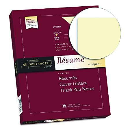 Amazon Southworth Exceptional Resume Paper 100 Cotton 24 Lb
