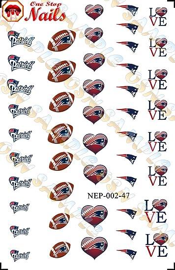 Amazon.com: New England Patriots Waterslide nail decals (Tattoos) V2 ...