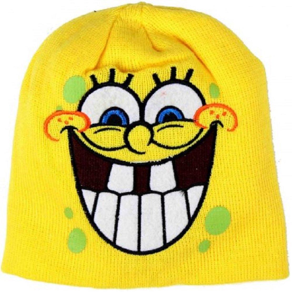 5a33d90c861e2 BOYS BEANIE HATS WINTER HAT SPONGEBOB SQUARE PANTS 2-8 YEARS SMILING (54cm  4-8 years)  Amazon.co.uk  Clothing