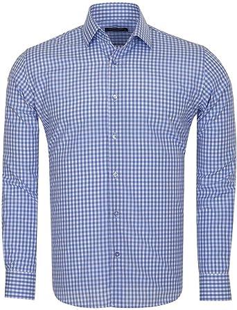 Makrom - Camisa clásica Colorida a Cuadros S M L XL 2XL 3XL 4XL 5 XL 6 XL para Hombre: Amazon.es: Ropa y accesorios