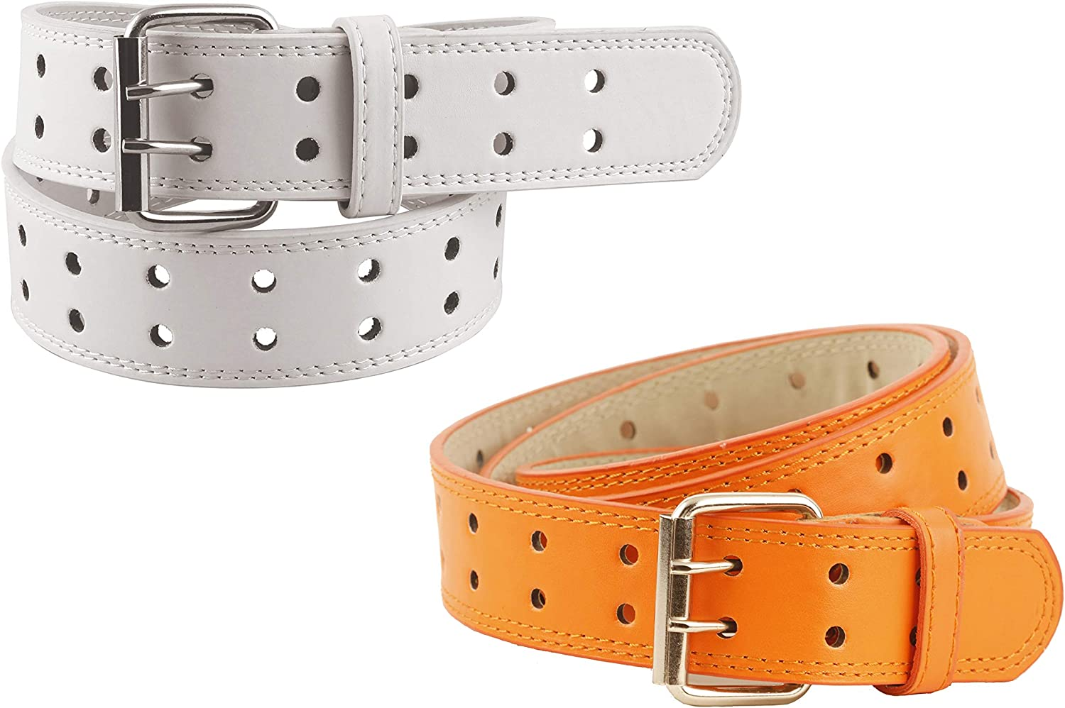 2 Pack Kids Faux Leather Two Hole Belt