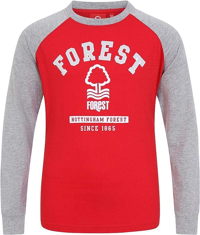 Nottingham Forest FC Camiseta Oficial con Mangas Raglán - Para Niños - con el Escudo del Club: Amazon.es: Ropa y accesorios