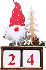 Flagicon Cute Santa Advent Calendar, 24 Days Countdown to Xmas Advent Calendar DIY Explosion Decoration Gift Box Tabletop Desk Calendar Decoration for Home Office Decoration