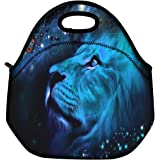 Blue Lion Thermal Neoprene Waterproof Kids Insulated Lunch Portable Carry Tote Picnic Storage Bag Lunch box Food Bag Gourmet Handbag Cooler warm Pouch Tote bag For School work Office FLB-013