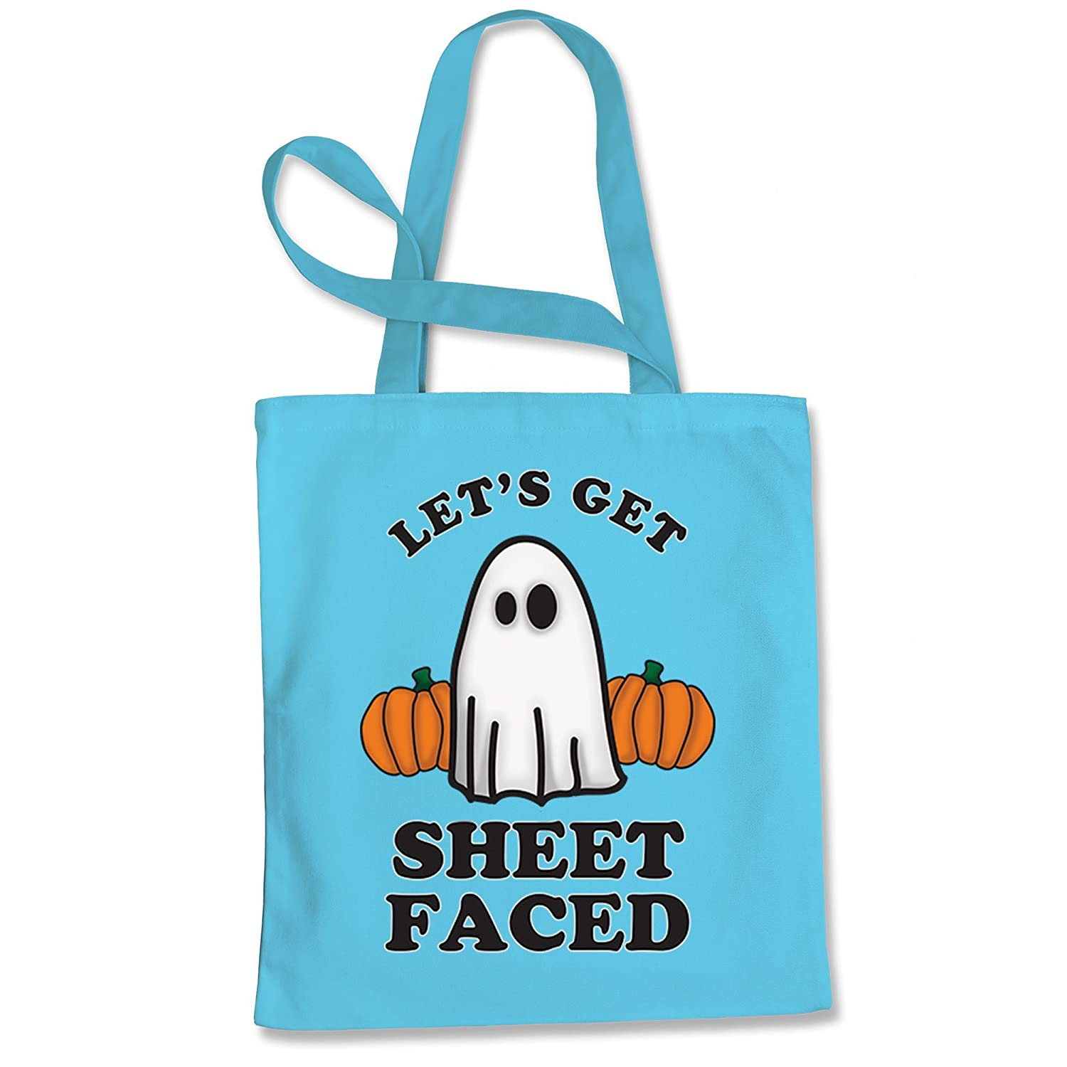 Expression Tees Lets Get Sheet Faced Ghost Shopping Tote Bag