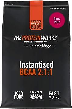 THE PROTEIN WORKS BCAA   Para Desarrollar y Recuperar Músculos   Explosión de Bayas   250 g