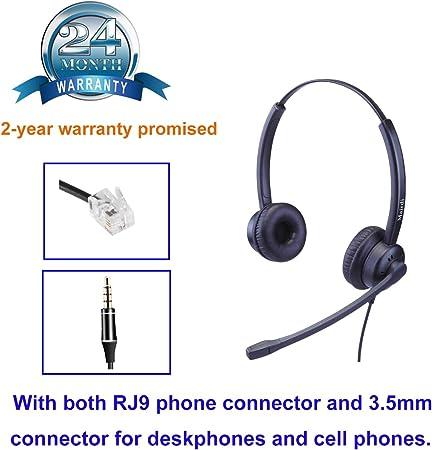 Telefon Headset Mit Noise Cancelling Mikrofon Binaural Elektronik