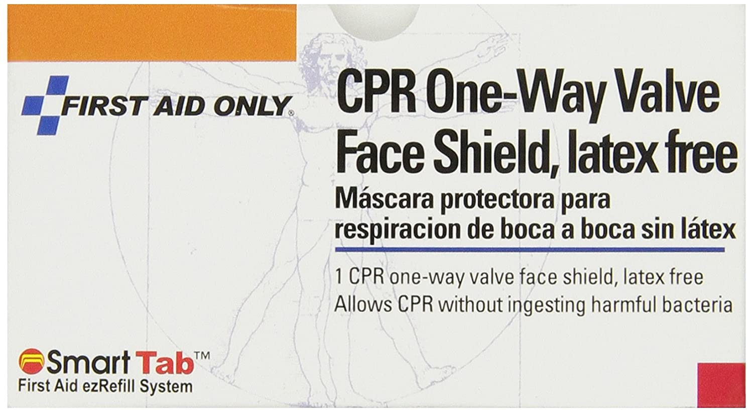 Amazon.com: First Aid Only CPR Faceshield, Latex-free, 1 Count: Health & Personal Care