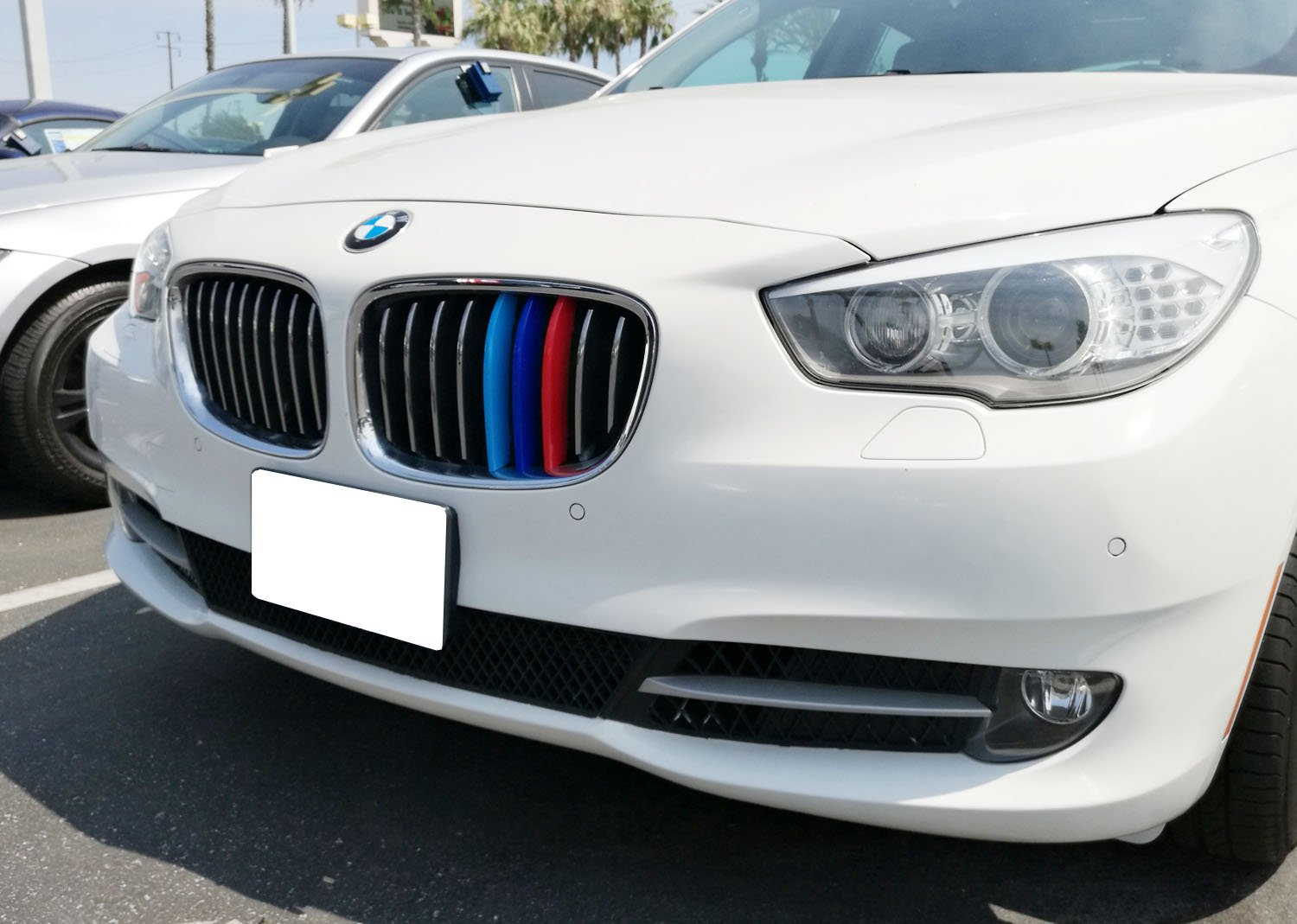 iJDMTOY Exact Fit //////M-Colored Grille Insert Trims For BMW F10 F11 5 Series 528i 535i 550i with Standard Center Chrome Kidney Grill 10 Beams Not For 12-Beam Black Grille