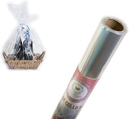 Clear Cellophane Wrap Roll 16 Inch 100 Ft for Gift Baskets Arts and Crafts Flowers Desserts Fruit Treats Wrapping /& Decorating