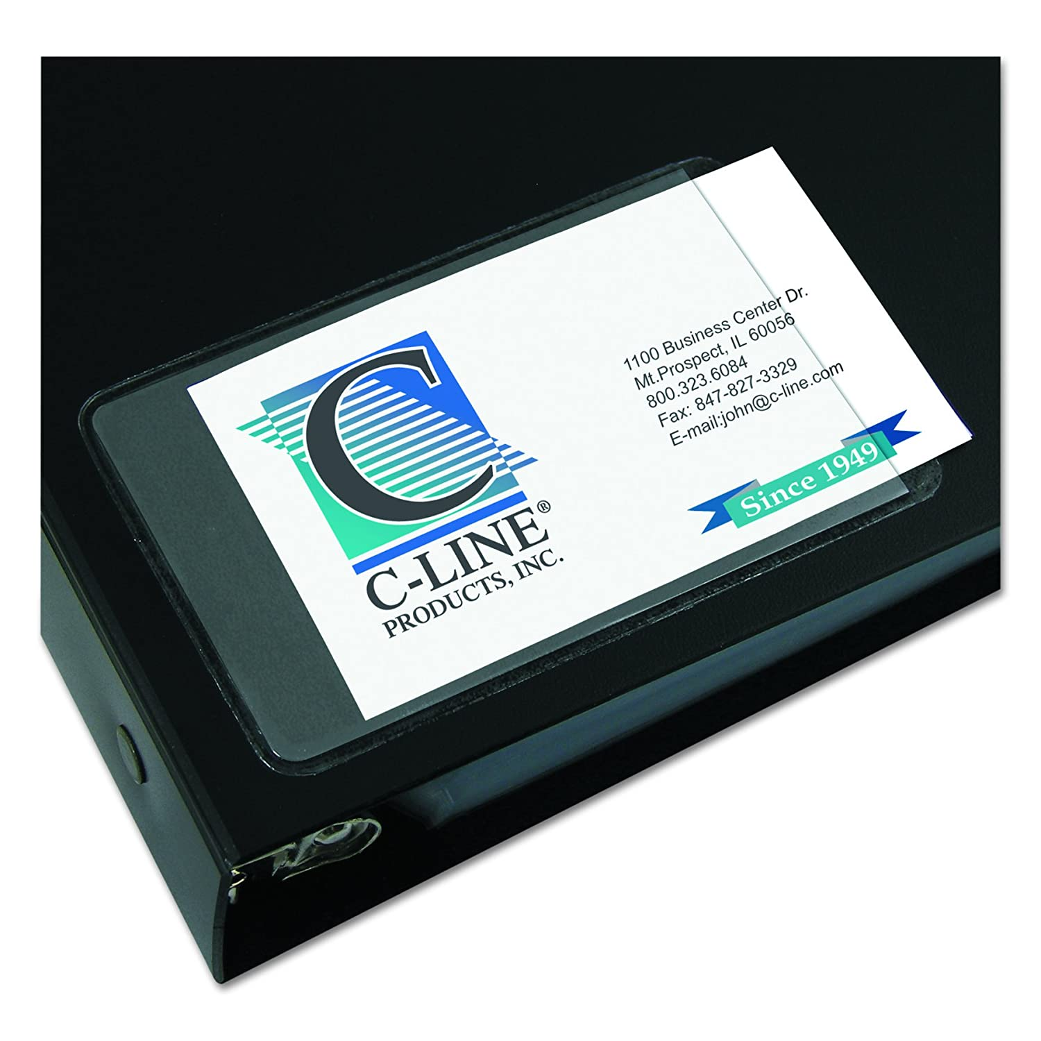 C-Line C-Line C-Line Self-Adhesive Business Card Holders 5ff906