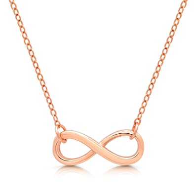 circle stainless bhp silver gold q ebay steel infinity necklace or interlocking