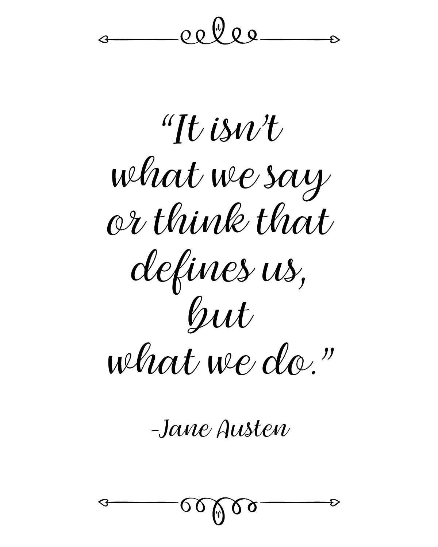 Amazon.com: Jane Austen, It isn\'t What We Say, Quote Wall ...