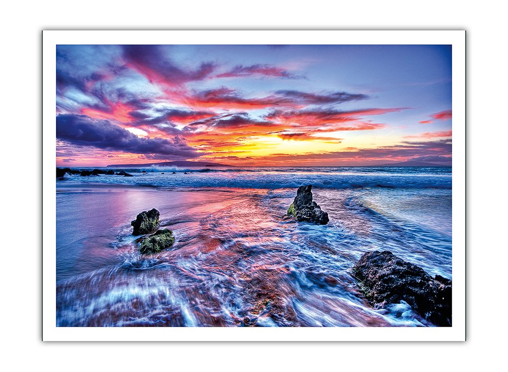 Pacifica Island Art Dreaming of Hawaii - Hawaiian Sunset - From an Original Color Photograph by Randy Jay Braun - Premium 290gsm Giclée Art Print - 12in x 16in